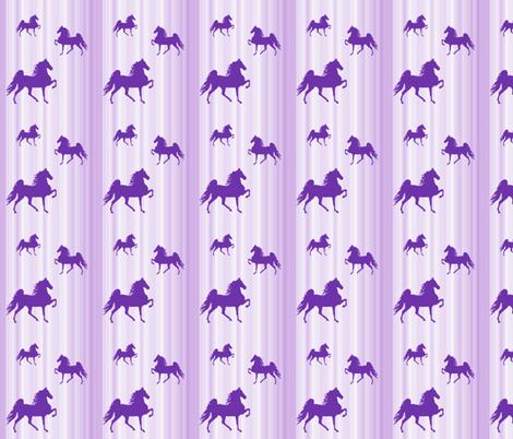 Horses-purple_stripe-smaller fabric by mammajamma on Spoonflower - custom fabric