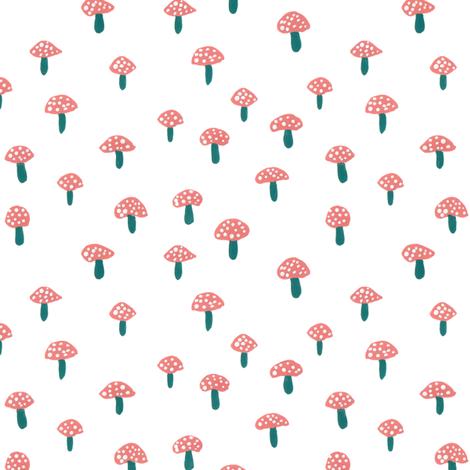 Mini Mushrooms fabric by mayabeeillustrations on Spoonflower - custom fabric