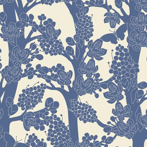 Romantic_tree- fabric by juliagrifol on Spoonflower - custom fabric