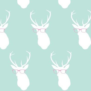 Smarty Pants Deer, Seafoam