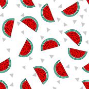 Watermelon - Cardinal Red/Light Jade by Andrea Lauren