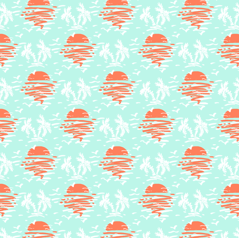 Early Sunset for Flamingos fabric by helenpdesigns on Spoonflower - custom fabric