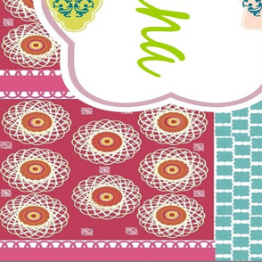 Morocco Quilt - kiwi - Personalized 56x36 repeat