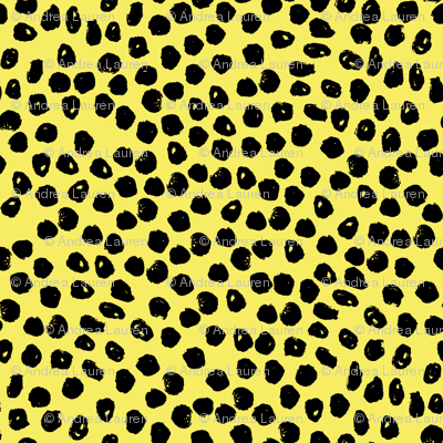 dots // bright yellow dot fabric inky dots design black and yellow dots bumble bee fabric