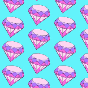 diamond in extra large pink and purple and aqua background