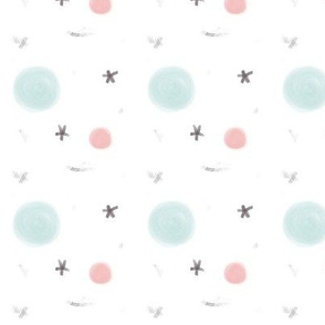 Cute Abstract Planets and Stars Pattern