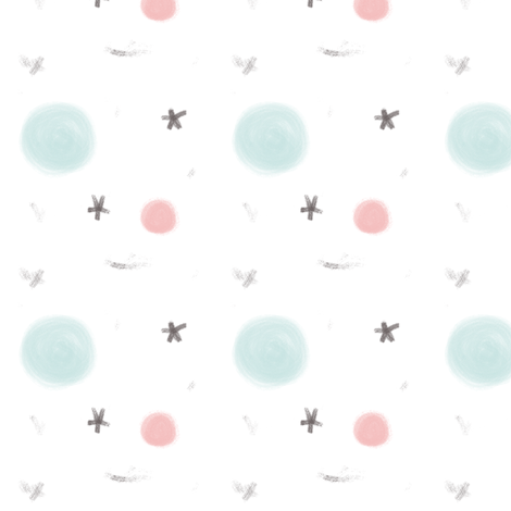 Cute planet and stars abstract pastel pattern for children for Cute childrens fabric