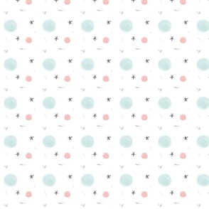 Cute Planet and Stars Abstract Pastel Pattern for Children