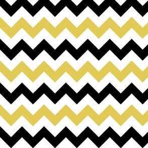 Gold and Black Chevron Stripes