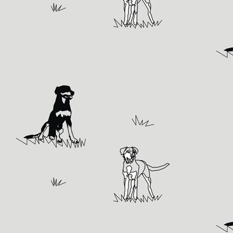 Working Farm Dogs fabric by pennyroyal on Spoonflower - custom fabric