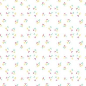 Cute geometric triangles kaleidoscope minimalistic modern pattern