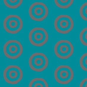 Target in Turquoise and Gray