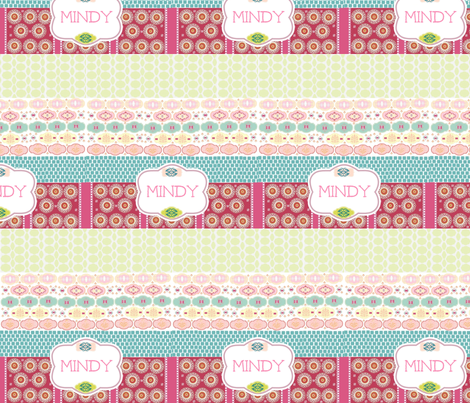 Morocco Quilt Personalized-Strawberry fabric by drapestudio on Spoonflower - custom fabric