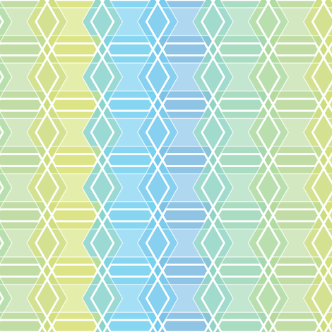 Interwoven hexastripes fabric by linkolisa on Spoonflower - custom fabric