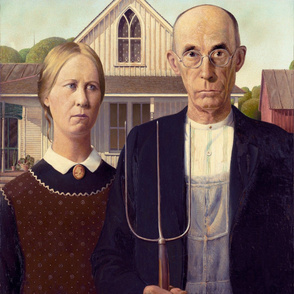 American Gothic (Grant Wood, 1930)