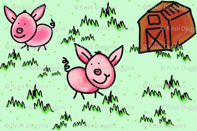 Happy Bacon, Little Pink Farm Pigs