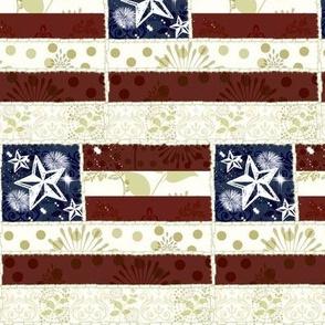 Vintage Flag Quilt - mini