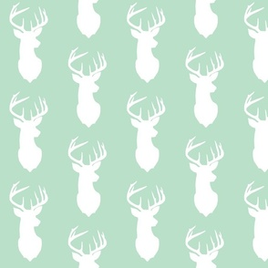 deer silhouette in mint