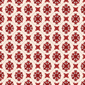 Elegant  Red Medallion Pattern