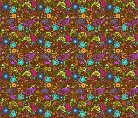 Brownpaisley fabric by goodknightfabrics on Spoonflower - custom fabric