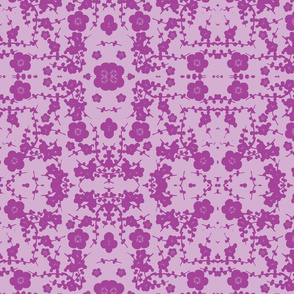 pale purple on purple cherry blossoms