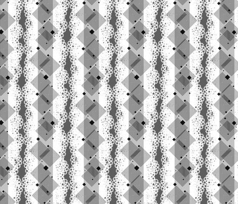 Geometric Alpha - Black fabric by siya on Spoonflower - custom fabric