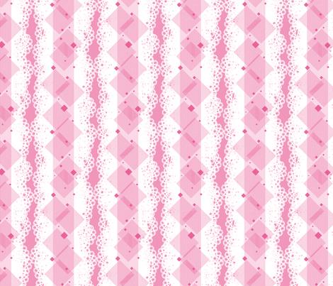 Geometric Alpha - Pink fabric by siya on Spoonflower - custom fabric