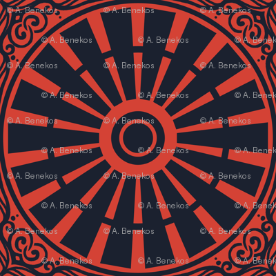 Windmill Wheel - Summer Farm (Red)