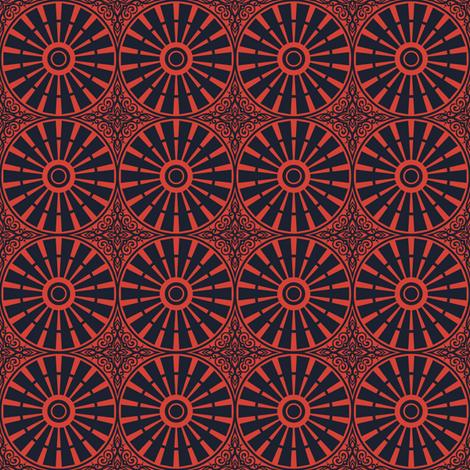 Windmill Wheel - Summer Farm (Red) fabric by siya on Spoonflower - custom fabric