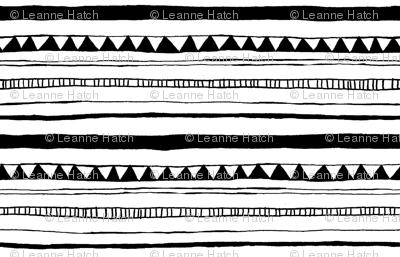 Drawn Stripe White/Black