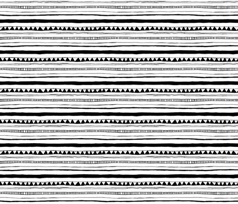 Drawn Stripe White/Black fabric by leanne on Spoonflower - custom fabric