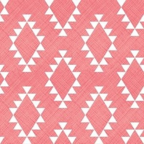 Aztec Crosshatch Pink