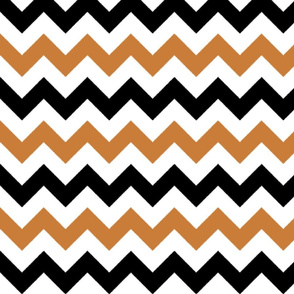 Copper and Black Chevron Stripes