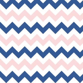 Pink and Blue Chevron Stripes