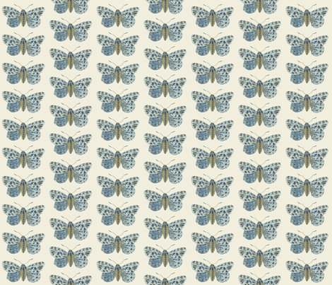 Tiny Tiger Moth Pearlwood fabric by gollybard on Spoonflower - custom fabric