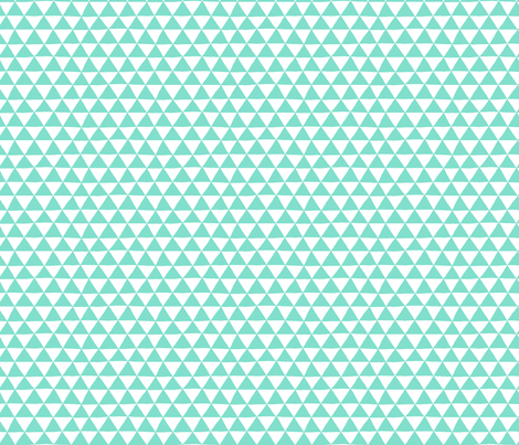 Triangle Geo (mint) fabric by leanne on Spoonflower - custom fabric