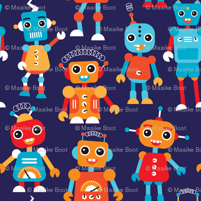 Cool colorful robots for boys