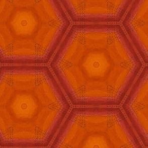 Hot Summer Hexagon in Orange