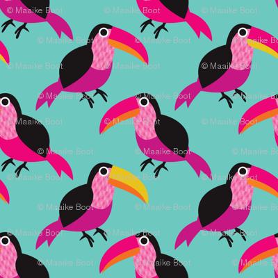 Tropical summer tucan bird Brazil theme