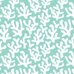 Mint Coral abstract ocean series