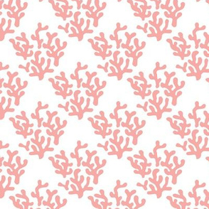 Soft powder pink Coral abstract ocean series