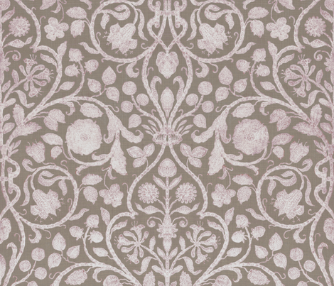Provence in Lavender and Warm Gray  fabric by willowlanetextiles on Spoonflower - custom fabric