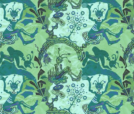 cosmic-kaufman-teal2k fabric by wren_leyland on Spoonflower - custom fabric