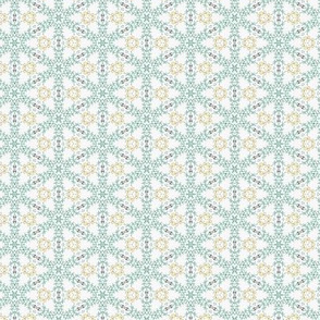 Stitchy Blue & Gold Ethnic Pattern