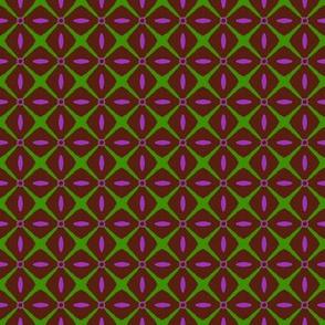 Interspersed   -purple & green on chocolate