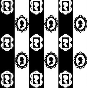 Black and White Cameo Stripe