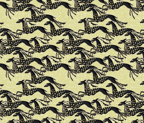 Wild gazelles on flecked light gold by Su_G fabric by su_g on Spoonflower - custom fabric