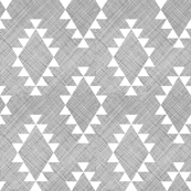 Aztec Crosshatch Gray