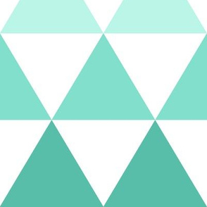 Ombre Triangles Large Mint