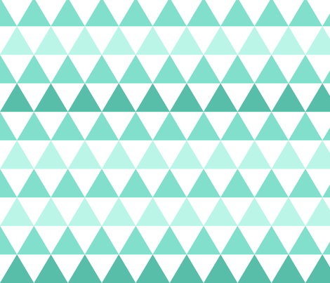 Ombre Triangle Small Mint fabric by leanne on Spoonflower - custom fabric